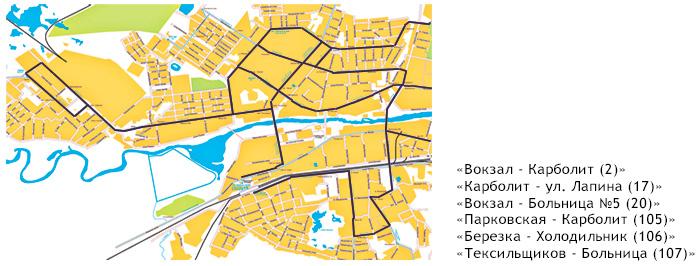 Схема движения маршруток в орехово-зуево